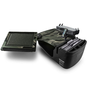 Reach Desk Front Seat Green Camouflage Built-in Power Inverter, Printer Stand & X-Grip Phone Mount