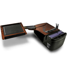 Load image into Gallery viewer, Reach Desk Back Seat Mahogany Printer Stand & X-Grip Phone Mount