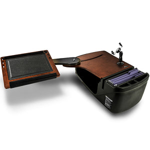 Reach Desk Back Seat Mahogany Built-In Power Inverter, X-Grip Phone Mount & Universal iPad/Tablet Mount*