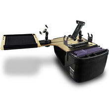 Load image into Gallery viewer, Reach Desk Back Seat Mahogany Built-in Power Inverter & Printer Stand*
