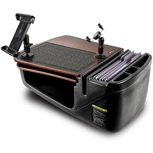 Load image into Gallery viewer, GripMaster Mahogany Built-in Power Inverter, Universal iPad/Tablet Mount & Printer Stand