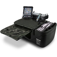 Load image into Gallery viewer, GripMaster Green Camouflage Built-in Power Inverter, Universal iPad/Tablet Mount & Printer Stand