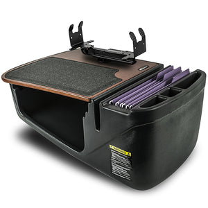 Efficiency GripMaster Mahogany Built-in Power Inverter, Printer Stand, X-Grip Phone Mount and iPad/Tablet Mount
