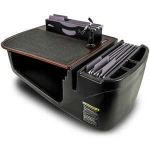 Efficiency FileMaster Mahogany Built-in Power Inverter and Printer Stand