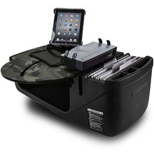 Load image into Gallery viewer, RoadMaster Car Green Camouflage Built-in Power Inverter, Tablet Mount & Printer Stand