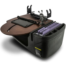 Load image into Gallery viewer, RoadMaster Car Mahogany Built-in Power Inverter, Tablet Mount & Printer Stand