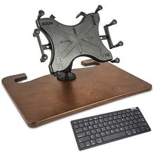 "Load image into Gallery viewer, Wheelmate Mahogany Extreme 10"" X-Grip Tablet Mount & Bluetooth Keyboard"
