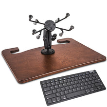 "Load image into Gallery viewer, Wheelmate Mahogany Extreme 7"" X-Grip Tablet Mount & Bluetooth Keyboard"