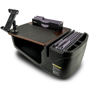 Efficiency FileMaster Mahogany Built-in Power Inverter, X-Grip Phone Mount and iPad/Tablet Mount