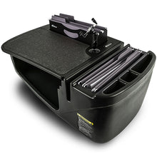 Load image into Gallery viewer, Efficiency FileMaster Black Built-in Power Inverter and Printer Stand