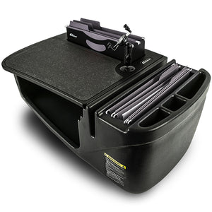 Efficiency FileMaster Black Built-in Power Inverter and Printer Stand