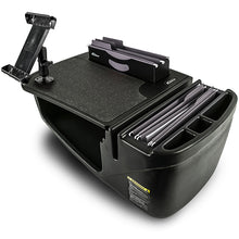 Load image into Gallery viewer, Efficiency FileMaster Black Built-in Power Inverter and iPad/Tablet Mount