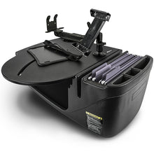 Load image into Gallery viewer, RoadMaster Car Black Built-in Power Inverter, Tablet Mount & Printer Stand