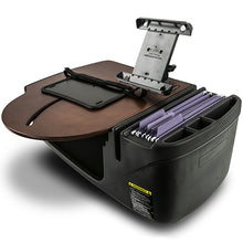 Load image into Gallery viewer, RoadMaster Car Mahogany Built-in Power Inverter & Printer Stand