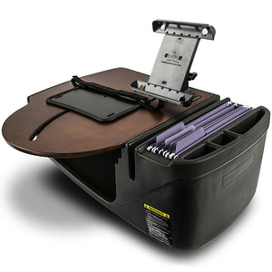 RoadMaster Car Mahogany Built-in Power Inverter & Printer Stand