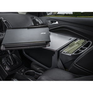Reach Desk Front Seat Grey Built-in Power Inverter & Printer Stand