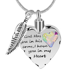 Heart Necklace With Ashes Urn