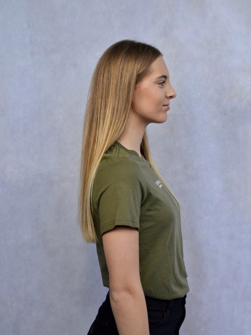 Logo Tee in Army Green