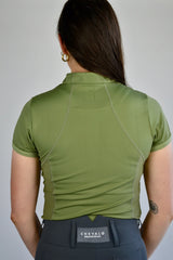 Performance Short Sleeve Base Layer in Olive Green