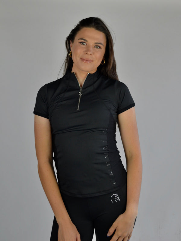 Performance Short Sleeve Base Layer in Black