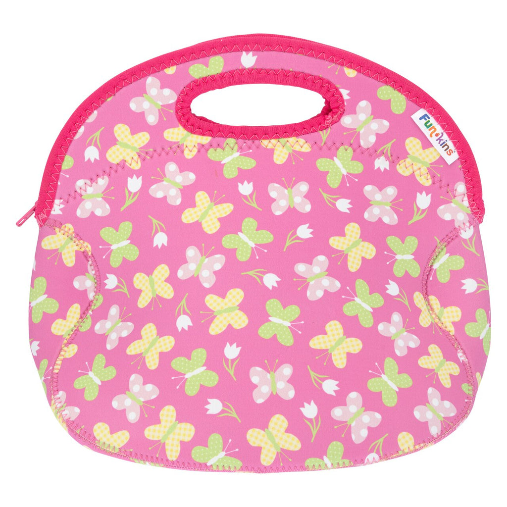 Funkins butterfly garden kids insulated machine washable lunch bag