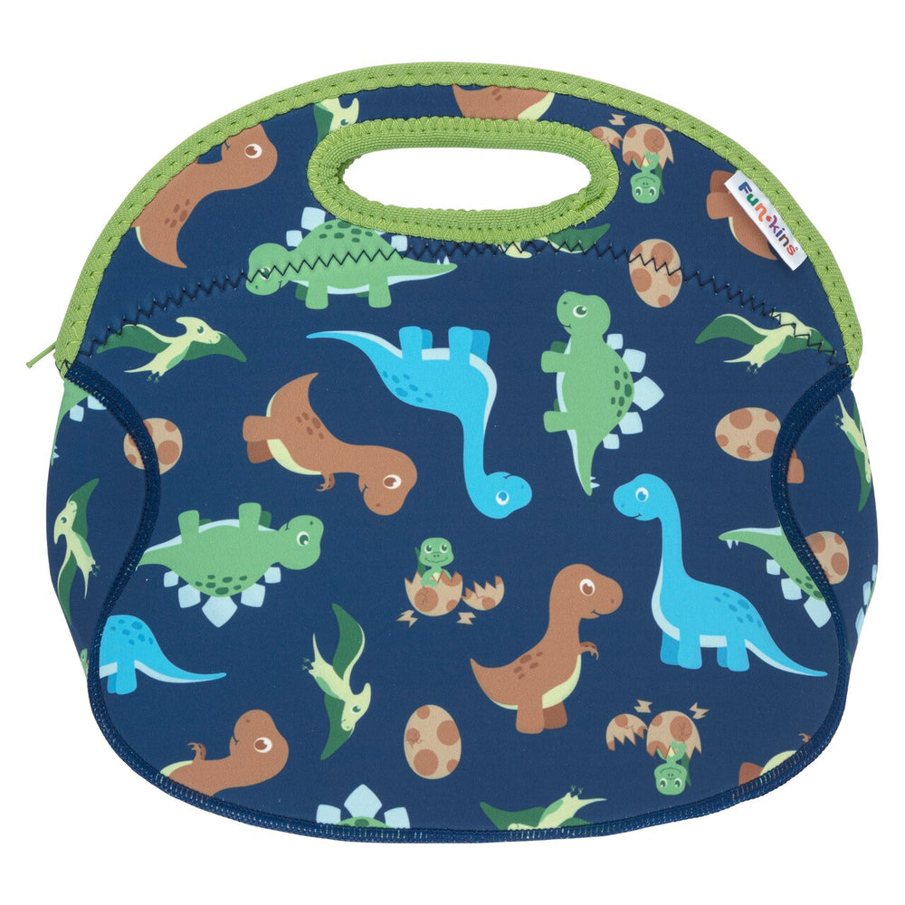 Funkins black dinosaur pals kids insulated machine washable lunch bag