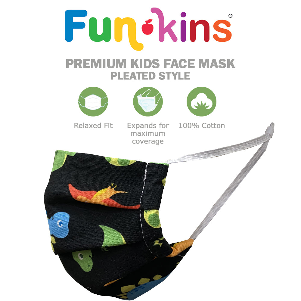 Funkins Kids Pleated Cloth Face Mask: All Masks are On Backorder until September 12th, please check our Amazon shop for immediate availability.