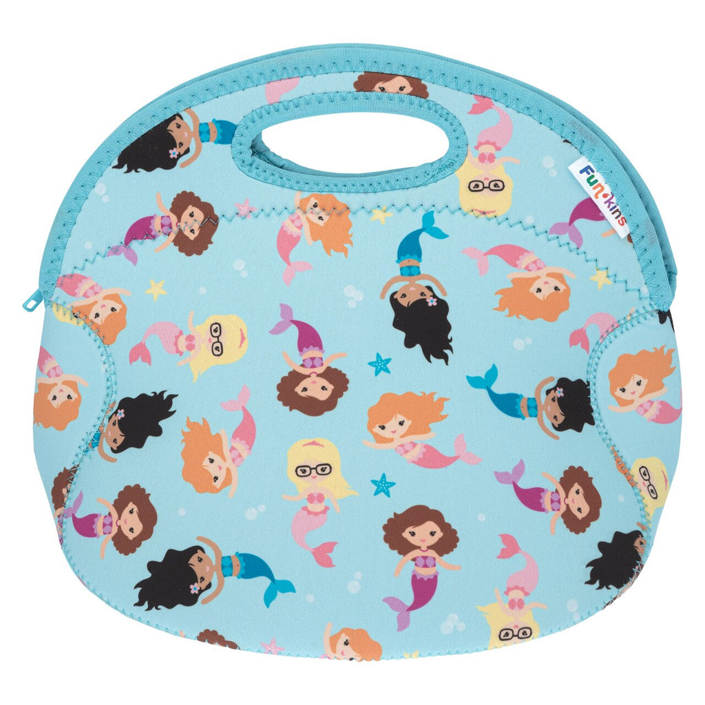 Funkins mermaid kisses & starfish wishes kids insulated machine washable lunch bag