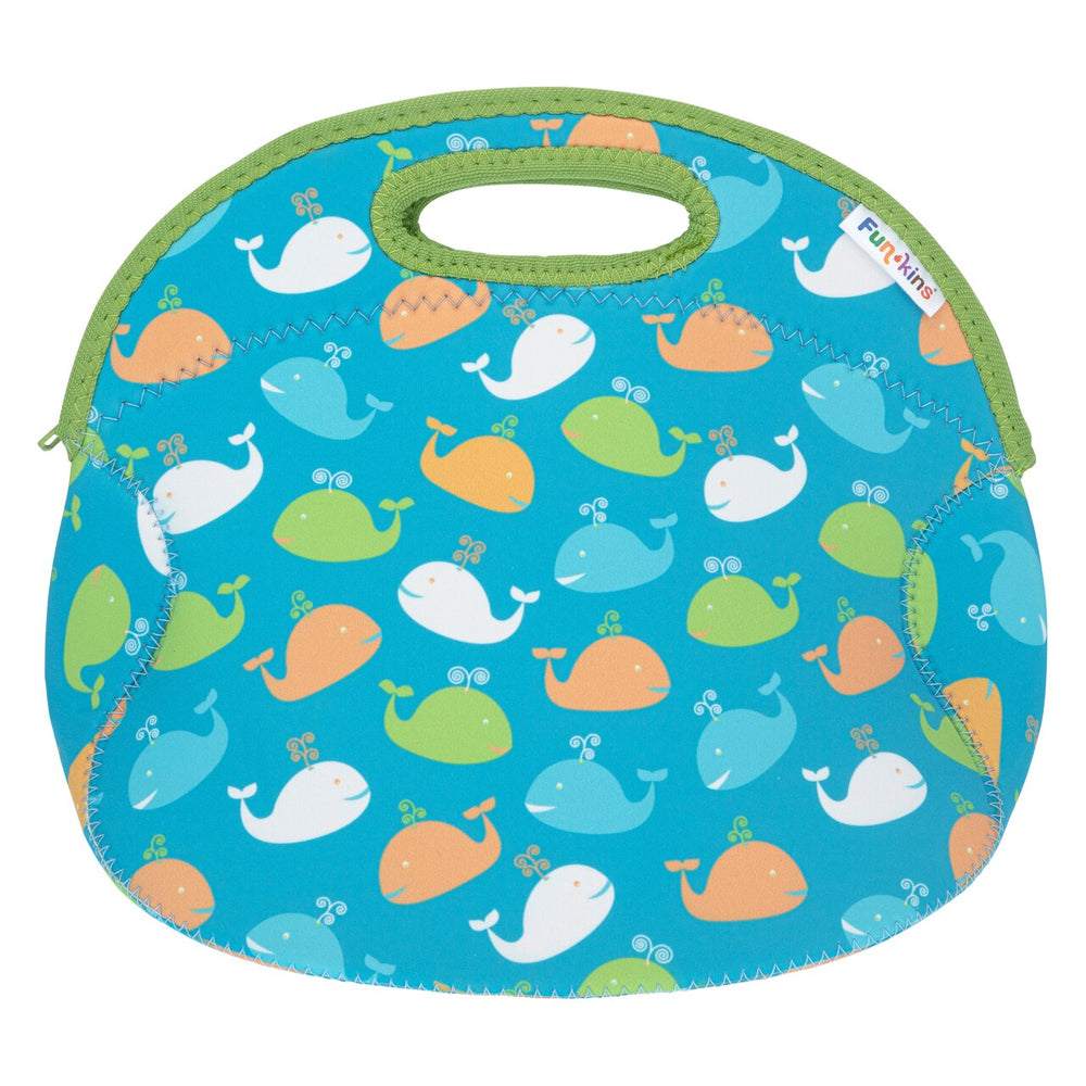 Funkins blue whale friends kids insulated machine washable lunch bag