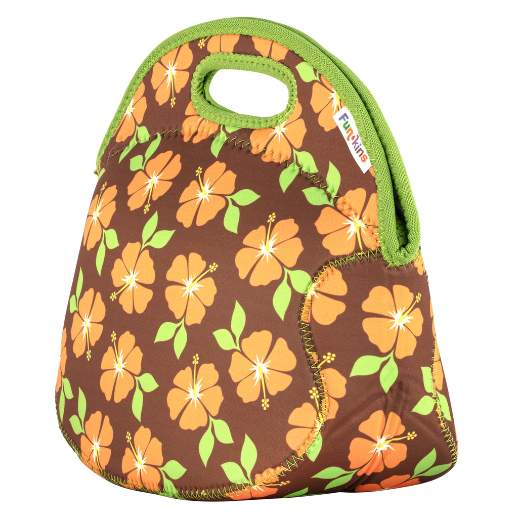 Hibiscus, Brown Lunch Bag