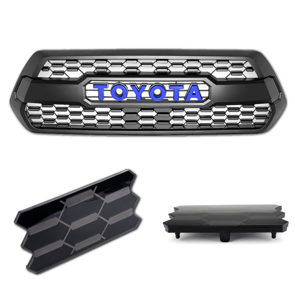 Trd Pro Grill with TSS Garnish plus LED Raptor Lights for 3rd GEN Tacoma (Fits: 2016-2021)