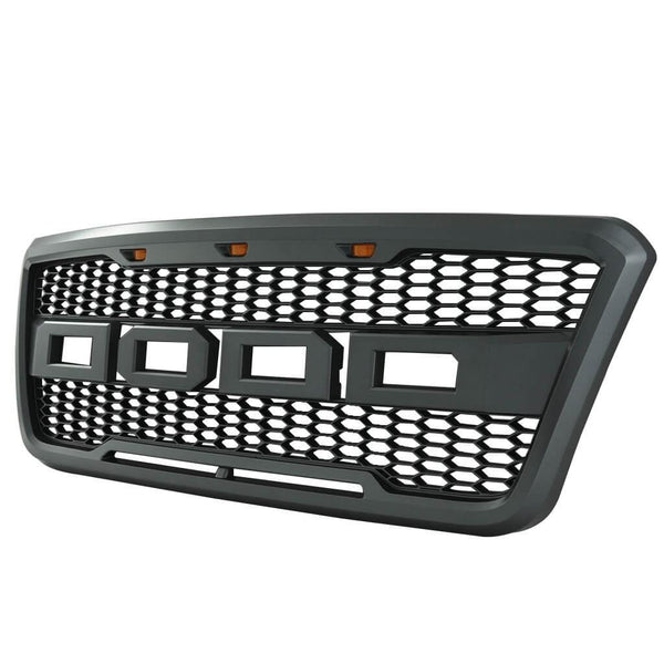 2004-2008 Ford F-150 Raptor Style Grill Kit (Black/Grey)