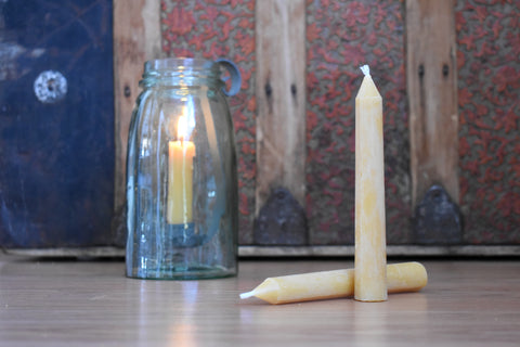 "100% Pure Beeswax 6"" Taper Candles (2 pack)"
