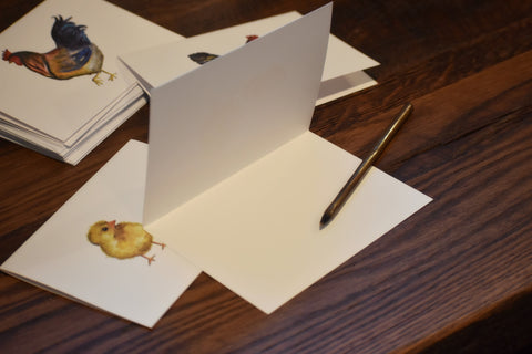 Hand Painted Note Cards - Chicken Set