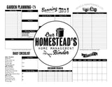 Homestead Management Binder Pages (Instant Download)