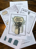 Old Fashioned Blue Recipe Binder Pages (Instant Download)