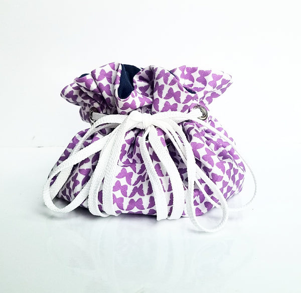 Butterfly purple medicine pill pouch