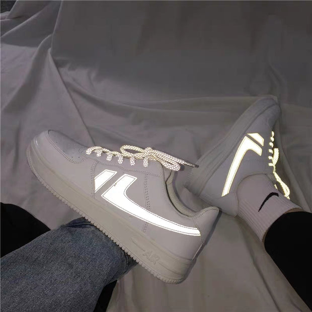 Reflective logo shoes