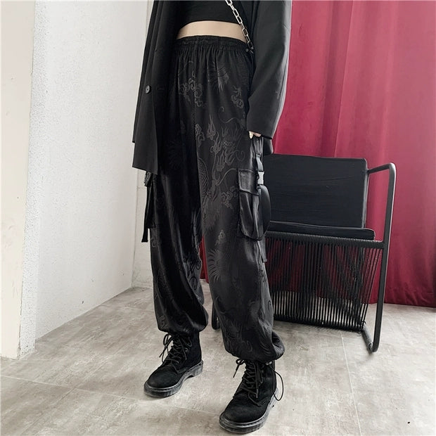 Black dragon pants