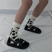 Cow spotted sock
