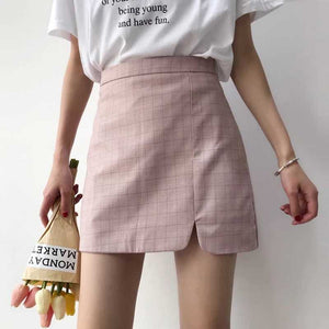Mini grid skirt