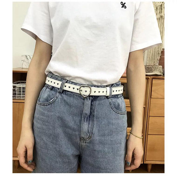 Heart hole belt