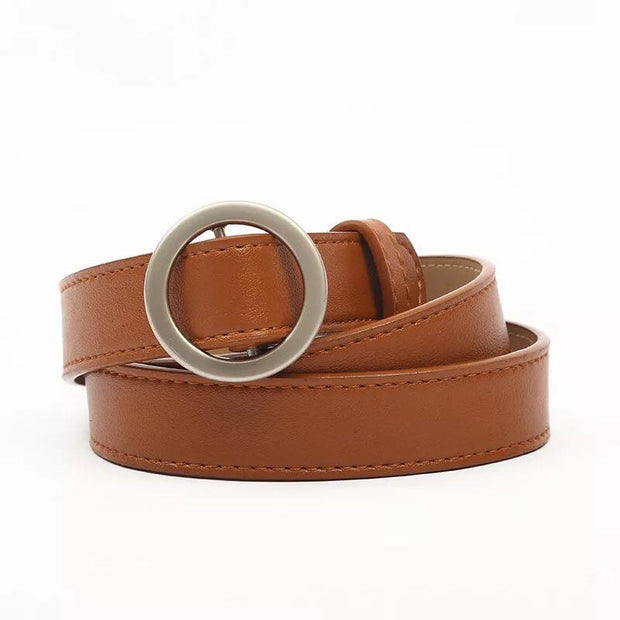 Basic round buckle belt