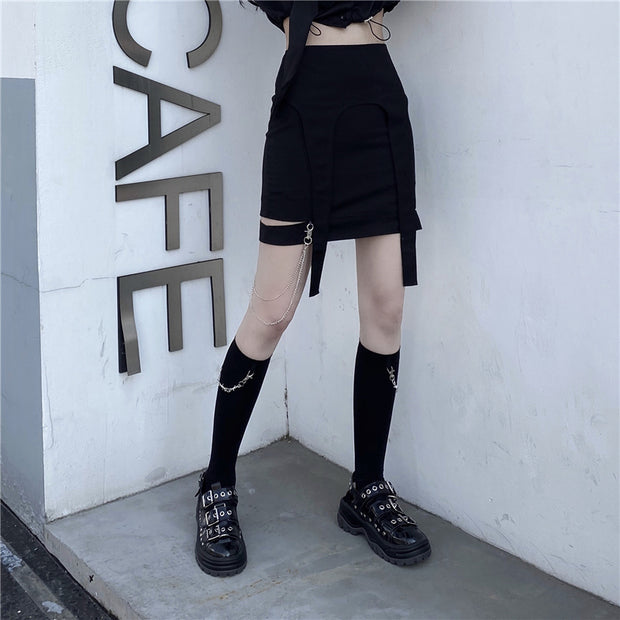 Chained high socks