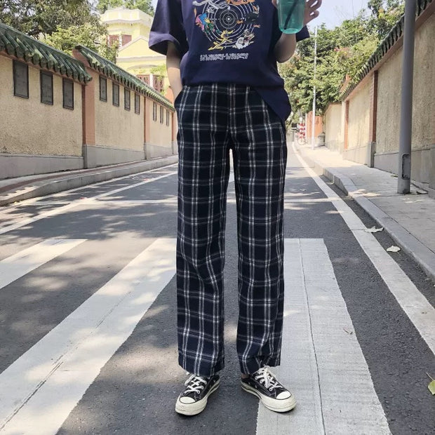 Basic checkered pants