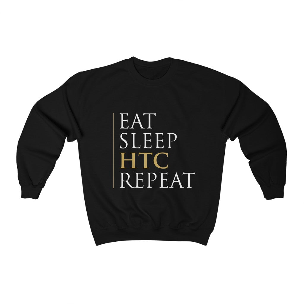 Eat Sleep HTC Repeat Black Sweatshirt