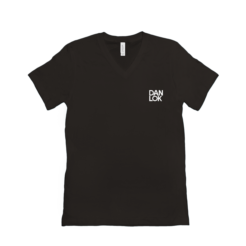 Dan Lok Essentials Black V-Neck T-Shirt