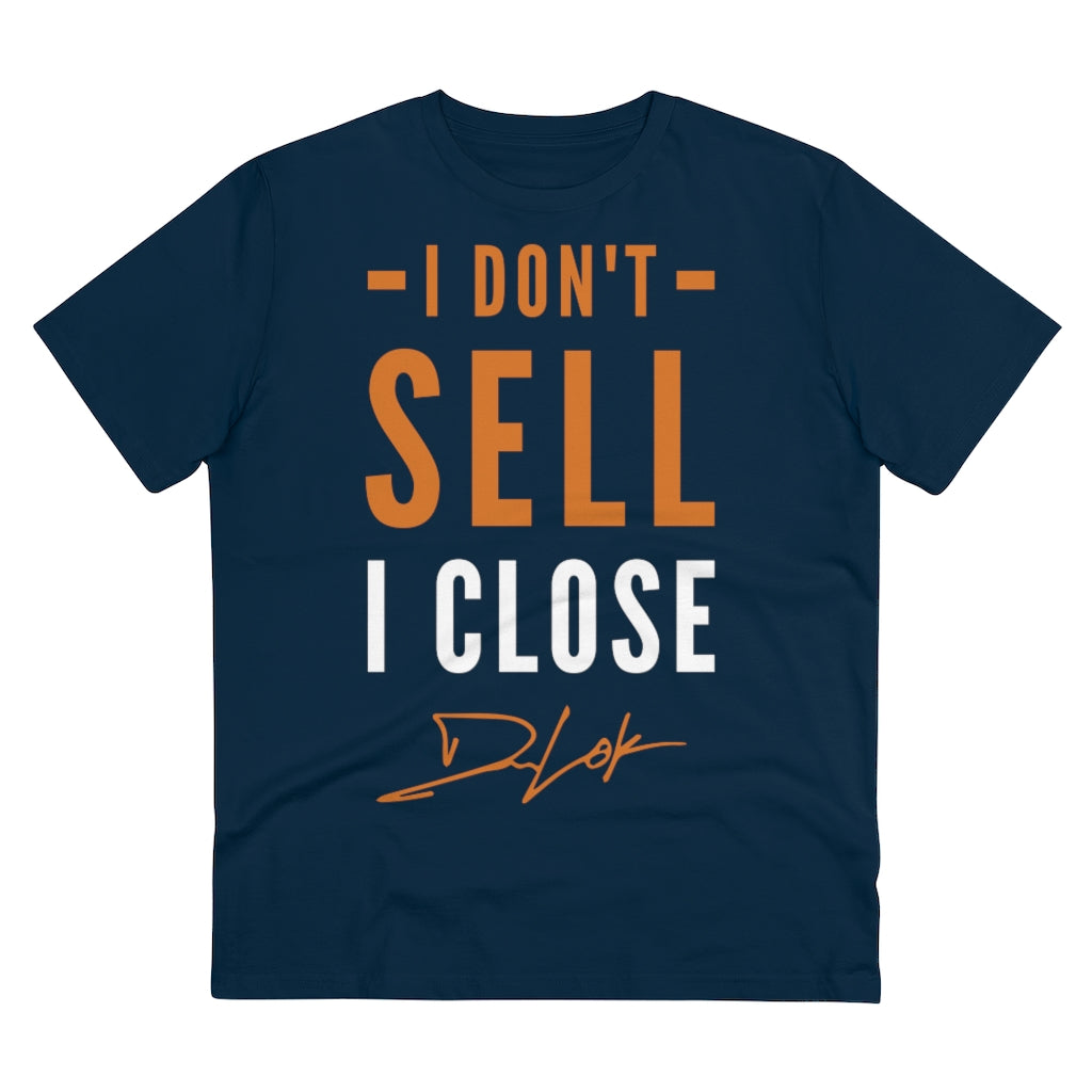 """I Don't Sell, I Close"" Short-Sleeve Unisex Navy T-Shirt"