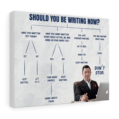 """Should You Be Writing Now?"" Canvas Wall Art"