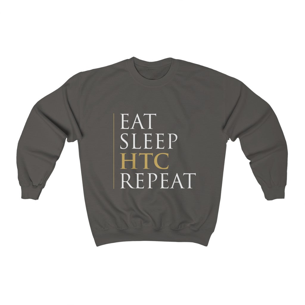 Eat Sleep HTC Repeat Grey Sweatshirt